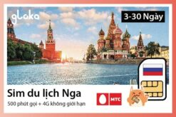 Sim du lịch Nga MTC Gloka