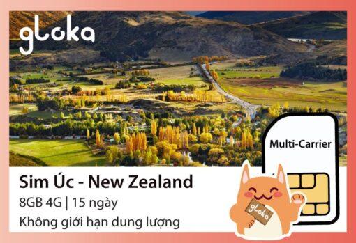 Sim du lịch Úc New Zealand Gloka