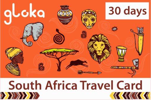 South Africa travel sim card 30 days gloka