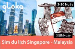 Sim du lịch Singapore Malaysia 3GB/ngày 3-30 ngày