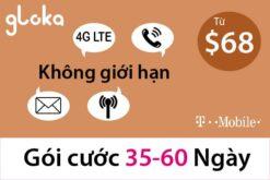 Sim du lịch mỹ t-mobile 35-60 ngày