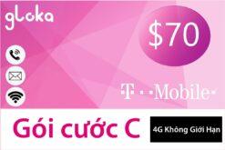 Sim 4G du học Mỹ T-Mobile Gói C