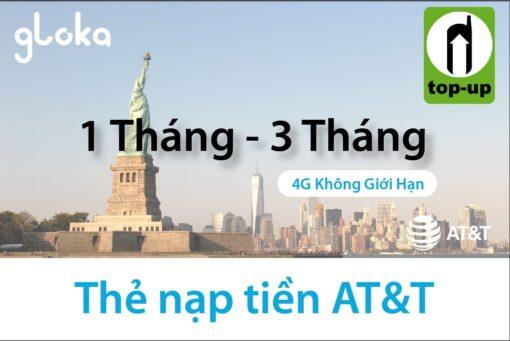 Thẻ nạp tiền sim AT&T gói 4G không giới hạn
