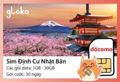 Sim định cư Nhật Docomo