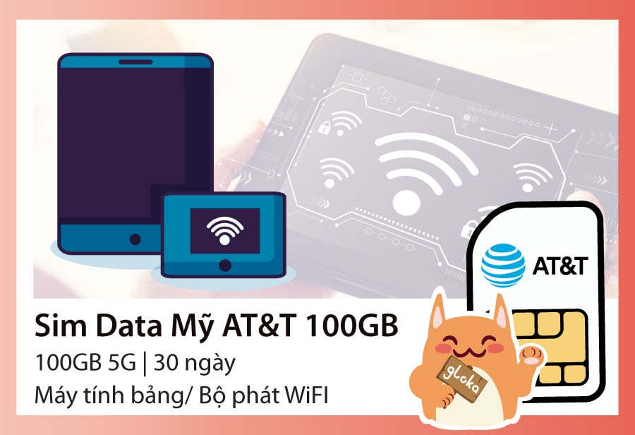 Sim data Mỹ 100GB AT&T